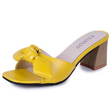 LvYuan Da donna Sandali Comoda Gomma Estate Footing Comoda Quadrato Bianco Nero Giallo Meno di 2,5 cm Yellow