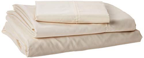 Set mit tiefer Tasche, Fadenzahl 600, sehr weich, Baumwollmischung Twin XL elfenbeinfarben ()