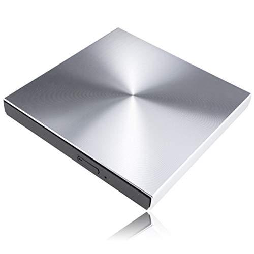 HEWE Externer DVD-Laufwerk Optical, USB 3.0 Aluminiumlegierung Externer DVD-Brenner, ROM-Player Portatil Optisches Laufwerk für Laptop PC,Silber (Xp Motherboard)