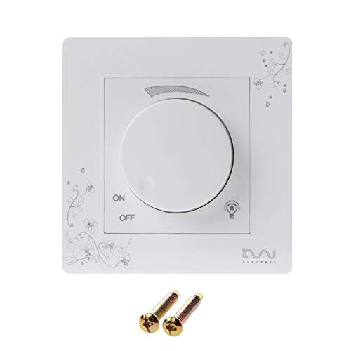 WDTong Luxuxwand-Dimmerschalter-Elfenbein-weiße kurze Art Weave Lichtschalter Wechselstrom 110~250V -