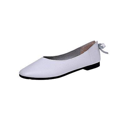 Wuyulunbi@ Scarpe donna pu primavera cadono Comfort Appartamenti Appartamento per Outdoor marrone Bianco Beige Bianco