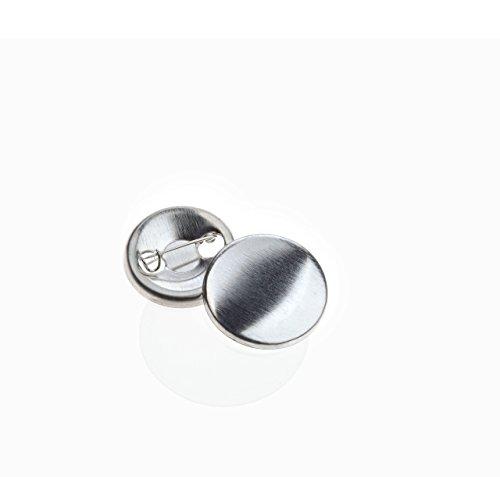 Buttonrohlinge 25mm (100 Stück) für Badgematic Buttonmaschine mit Sicherheitsnadel -