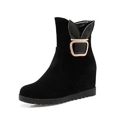SANMULYH Scarpe Donna Primavera Autunno Novità Snow Boots Fashion Stivali Stivali Tacco A Cuneo Punta Babbucce/Stivaletti Rivetto Per Nero