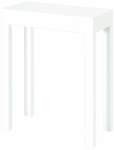 HAKU Möbel 51329 Beistelltisch 43 x 26 x 68 cm, weiß