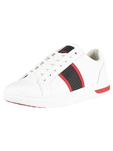 Ed Hardy Herren Niedrige Sneakers, Weiß, 41 EU -
