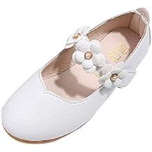 ZODOF Zapatos para niños Zapatos de niña de Flores de Moda Sólidos Zapatos Casuales a Juego