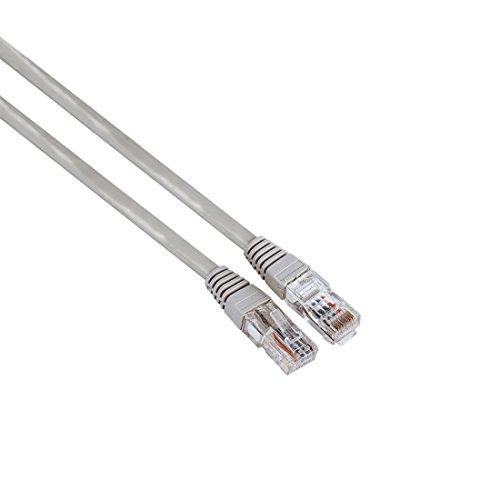 Hama Patchkabel, Cat5e, UTP 7,5m IP10-Netzwerk-Kabel (7,5m, männlich/männlich, grau, Gold, CAT5e) - Grau, Cat5e Kabel