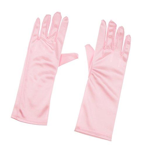 Fenteer Rosa/Blau Mädchen Prinzessin Handschuhe Kostüm Handschue Cosplay Handschuhe, Perfekt Geschenk für Kinder - - Rosa Kostüm Handschuhe
