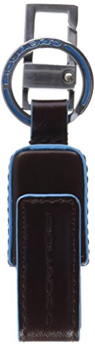 Piquadro ac4246b2 portachiavi, unisex adulto, marrone (mogano)