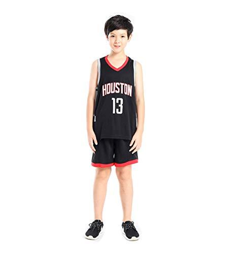 DEBND Kids Nab Houston Rockets 13# Harden Basketball-Anzug Jersey Basketballtrikot Sport Swingman Jerseys Basketball Uniform für Fans (Kid Boutique Kleidung)