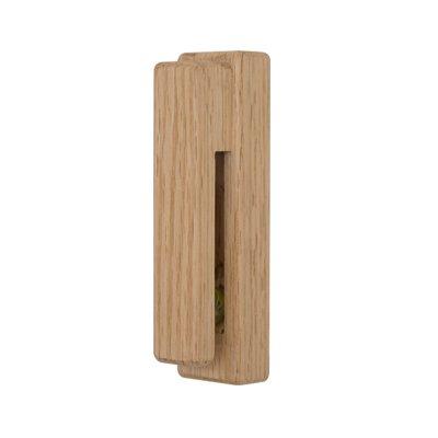 Joeesun Rustikale Holz Handtuchhaken Wandhalterung Lagerung Kleiderbügel Kappe Rack 3 Mt Adhensive Streifen Home Decor Organisation Badezimmer Küche Knöpfe Eichenholz