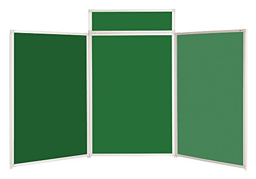Get Tabletop Display Heavy Duty Kit with Bag & Header – Portrait -11 Colours – For Schools, Exhibitions, Offices (Green with Aluminium Frame) Special