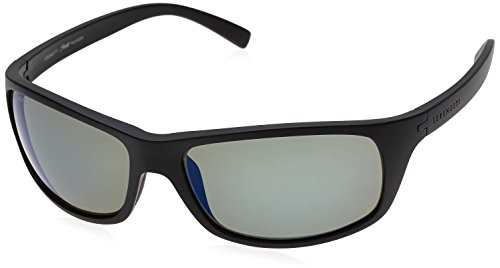 SERENGETI BORMIO SUNGLASSES (SATIN BLACK FRAME POLARIZED PHD 555NM BLUE LENS)
