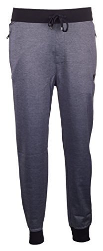 BOSS Hugo Boss Herren Schlafanzughose Jogginghose Long Pant Cuffs (L, Schwarz (Black 1))