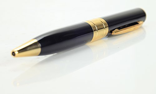 Techno electronics Hidden Camera Spy Pen Recorder Dvr Gold VGA 720x480p Best Cam Kit, NO LIGHTS RECORDING, Up to 32gb tf Card (Not Included)