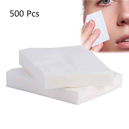 500 Stück Wattestäbchen, kosmetischer Make-up-Entferner und Gesichtsreinigung, feucht und trocken/sauber für Gesicht/Make-up-Entferner -