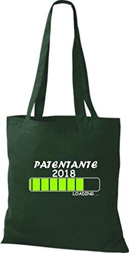 T-shirt In Tessuto Tinta Unita Borsa In Cotone Patentante 2018 Caricamento Regalo Nascita Verde