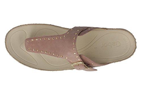 Flip Flops Slipper 43.721.14 rosa antico delle donne Gabor, Gr. 37-40,5, pelle Rosa (Antikrosa)