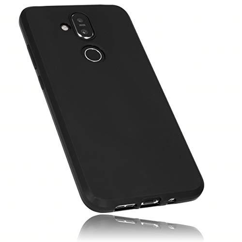 mumbi Hülle kompatibel mit Nokia 8.1, TPU-Silikon Schutzhülle schwarz, passgenau