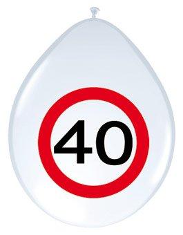 Folat 8 Globos con señal de tráfico 40.