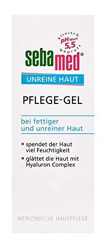 sebamed UNREINE HAUT Pflege-Gel | glättet die Haut mit Hyaluron Complex  | beruhigt und pflegt die unreine und fettige Haut | Inhalt 50 ml - Mattierende Fettige Haut-creme