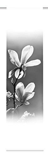 Home Fashion 084/137-9607245x 0060riel Tela Decorativa (Impresión Digital Albo, plástico, Blanco y Negro, 245x 60cm