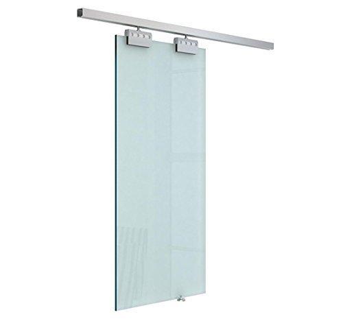 HomCom Puerta Corrediza de Cristal sin Obra - Vidrio Satinado - 205x102.5 cm