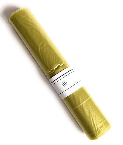Sacchi Spazzatura Colore Giallo 72x110 cm 110L 50gr/Sacco (9 Rotoli x 10 PZ) Sacchi Made in Italy per Raccolta DIFFERENZIATA IMMONDIZIA PATTUME con LEGACCIO