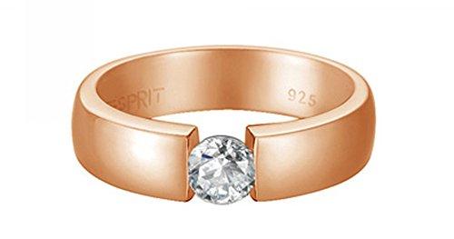 Esprit Jewels Damen-Ring 925 Sterling Silber Solitaire rose