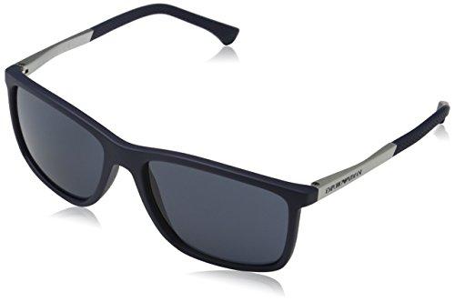 Emporio Armani Unisex 547487 Sonnenbrille, Blau (Blue Rubber), Large (Herstellergröße: 58)