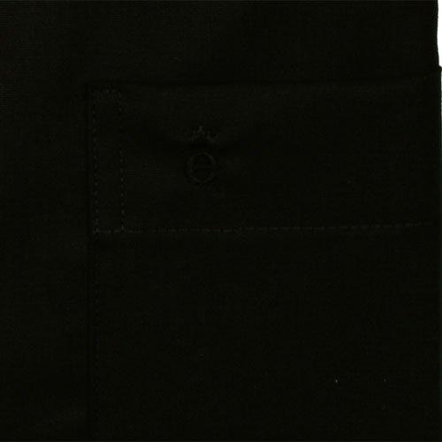 ETERNA Chemise á manches courtes COMFORT FIT Popeline uni Noir