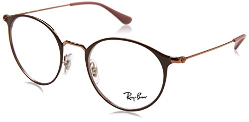 Ray-Ban Unisex-Erwachsene 0RX 6378 2973 47 Brillengestelle, Braun (Copper On Topo Light Brown),
