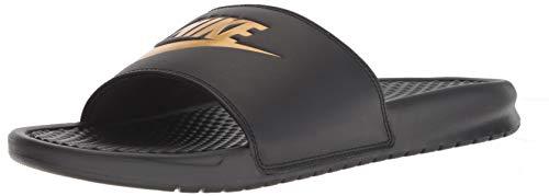 premium selection 92cc9 2e23b Nike Benassi JDI, Chaussures de Plage   Piscine Homme, Noir (Black Metallic