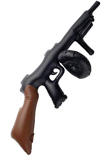 Aufblasbare Thompson-Maschinenpistole Schwarz 75cm, One - Bonnie Und Clyde Kostüm Kinder