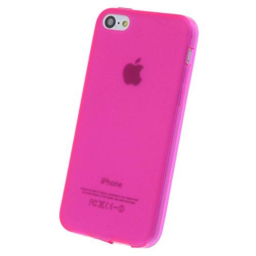 "doupi PerfectFit Schutzhülle mit Staubstöpseln für iPhone 6 6S ( 4.7"" ) Staubschutz eingebaut Matt Clear Design TPU Schutz Hülle Silikon Schale Bumper Case Schutzhülle Cover, pink Pink"