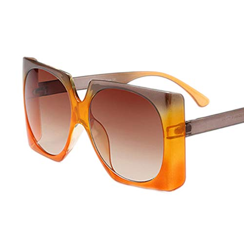 NauyGnol Quadratische Sonnenbrille, übergroßer Rahmen, Vintage-Stil, luxuriös, modisch, modisch, beliebte Sonnenbrille, UV400 Gr. Einheitsgröße, C1