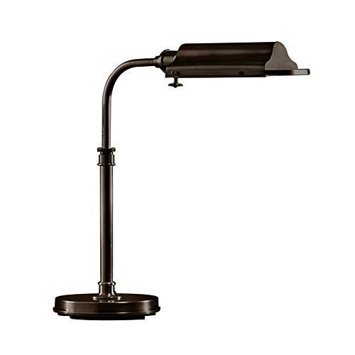 Bronze-nickel-stehleuchte (Modern Vintage industrielle Schreibtischlampe, Edelstahl-E27-Arbeitsscheinwerfer-Eye-Caring-Innenbeleuchtung 40W rustikale Tischleuchte zum Lesen von Arbeitsbüro-Schlafzimmer-Nickel ( Color : Bronze ))