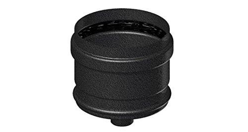 Comptes–Cheminée en acier noir d. 80Céramique SP. 1,2pour cuisinières à pellet–Tube courbe accessoires–-Élément droit L. 500mm