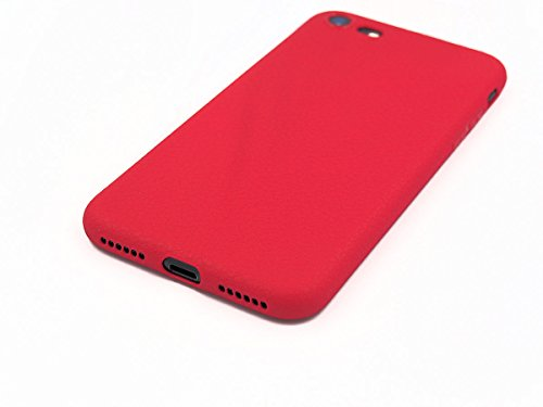 iPhone 7 Schutzhülle Ultra Slim in rot Lederoptik original smartec24® Ultra dünnes Premium Case mit extrem guter Haptik dank spezieller Oberflächenstruktur 100% perfekte Passgenauigkeit (iPhone 7 rot) iPhone 7 rot