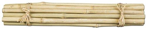 Ein Bündel mit 15 Bambusstäben, Bambus 300mm / 30 cm natur HELL.