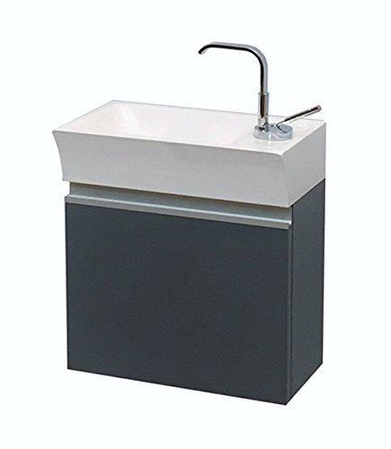 Waschplatz Faros 40, graphit glänzend