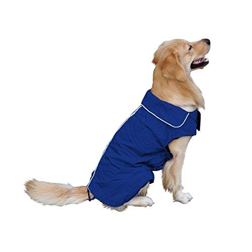 transpirable impermeable impermeable capa transparente para cachorro color blanco L Chubasquero para perro con capucha y agujero para cuello ultraligero BRxiasea