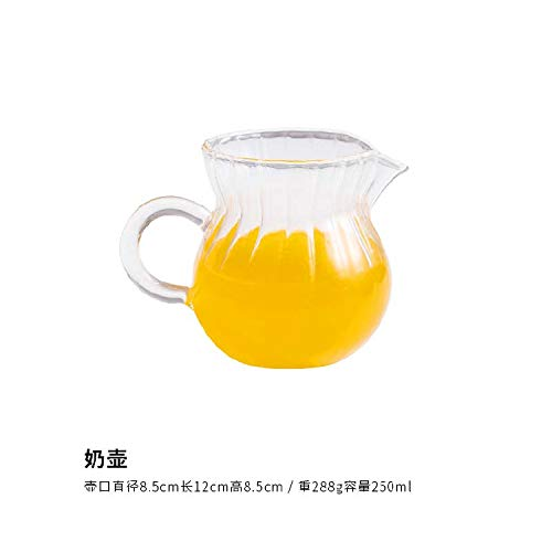 �ndige Glastopf große Kapazität Ming Funken Teekanne transparentem Filter Kung Fu Tee-Set Anti-Riot hochtemperaturbeständigen TeekanneMilchkännchen ()