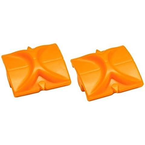 Fiskars 196750-1001 - Cuchillas de repuesto para modelo Triple Track (2 unidades), diseño recto, color naranja