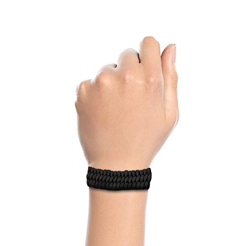 Imagen de pulseras de supervivencia de cuerda paracord negra  alternativa