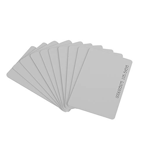 Hohe Qualität 10 Stück 125KHz EM4100 / TK4100 RFID Proximity ID Smart Card 0,85 mm dünne Karten für ID und Zugangskontrolle - Weiß 1 Proximity Card