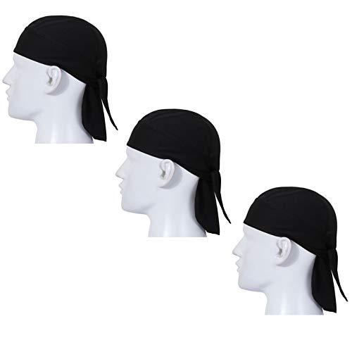 Aiyuda Cappello da Pirata Multiuso Quick Dry Berretto Traspirante Traspirante Testa avvolgibile Cappellino da Corsa (Confezione da 3)