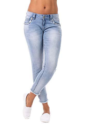 Blue Monkey Damen Jeans Lucy Applikationen Blue 31 -