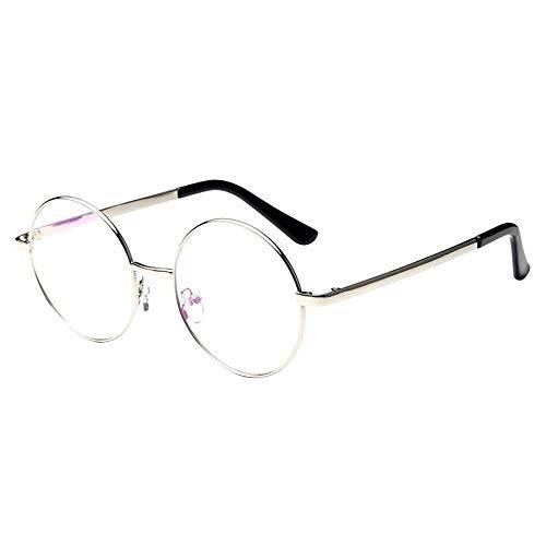 Tianzhiyi Glasdekoration Retro Metall Brillenglas Brillengestell Runde Specs Eyewear Plain Brillen für Unisex - Bronze