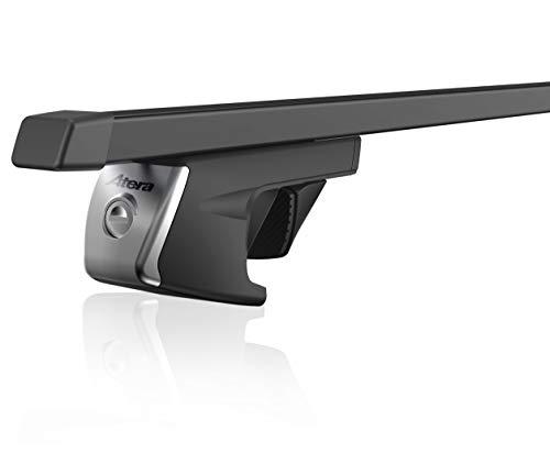 Atera 048110 SIGNO RELINGTRÄGER, VIERKANT TRAGROHR, Profil: 32 x 22 mm, aus verzinktem Stahlrohr und Kunststoffüberzug in schwarz